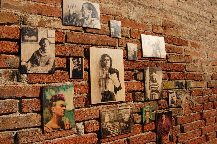 ARTIST COMPOSITION - Photo transfer on wood. Handmade.