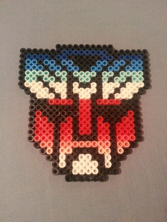 Autobots Perler Bead Emblem by AshMoonDesigns https://www.etsy.com/shop/AshMoonDesigns