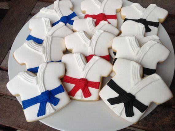 Karate/Taekwondo 1 Dozen Hand Decorated by YouandMeConfections, $36.00