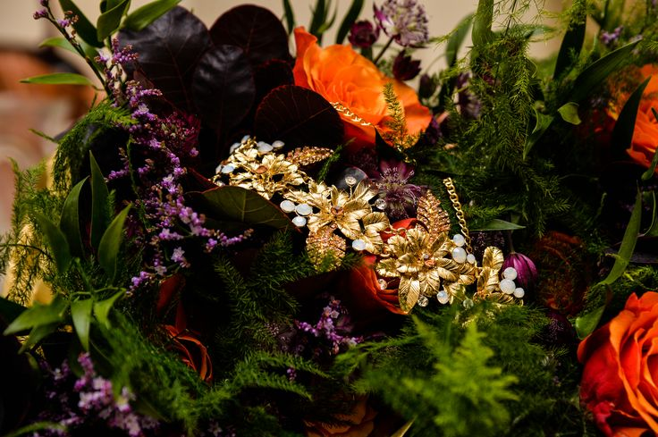 Real Wedding Autumn Fall Colours Jewel Toned Flowers Bristol // Emerald & Jade Flowers // Interlace Photography