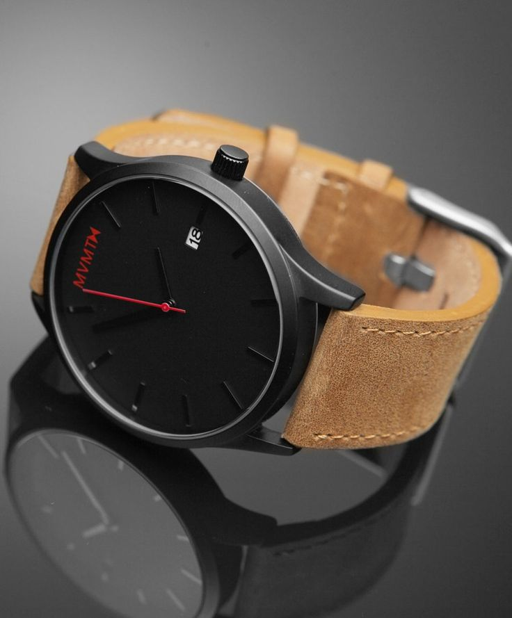 *.* MVMT WATCH | BLACK/TAN LEATHER