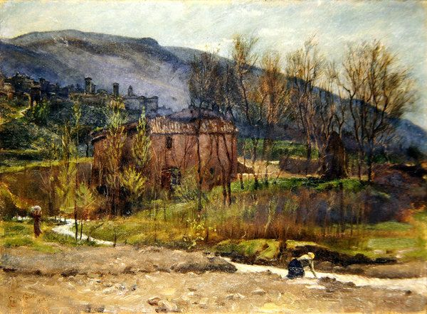 Tuscan Village, 1898 by Edith Ridley Corbet