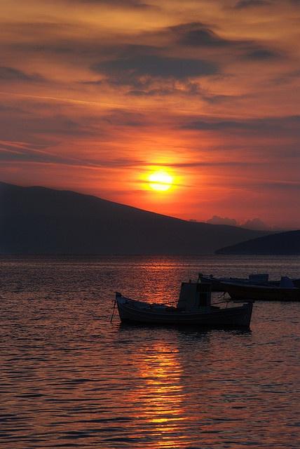 Red Skies - Tolo, Greece by Janicskovsky, via Flickr