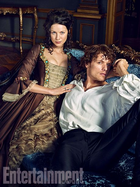 Gorgeous Season Two  'Outlander' - 11 EW Exclusive Photos - EW.com with Caitriona Balfe (Claire Fraser) and Sam Heughan (Jamie Fraser)
