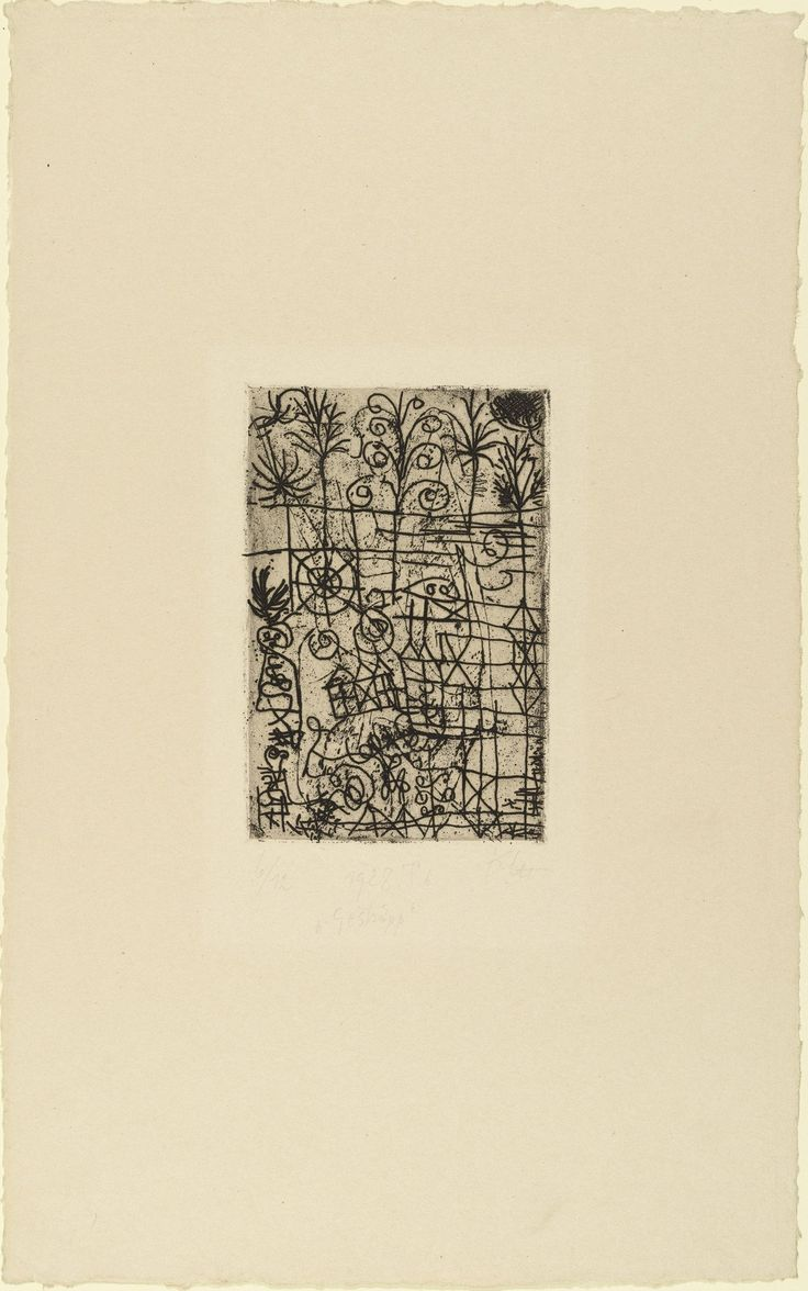 MoMA | The Collection | Paul Klee. Underbrush (Gestrüpp). 1928