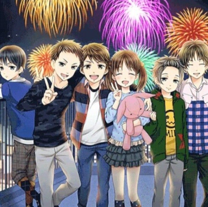 My Last Fist Kiss Anime Group Of Friends Anime Family Boy And Girl Best Friends