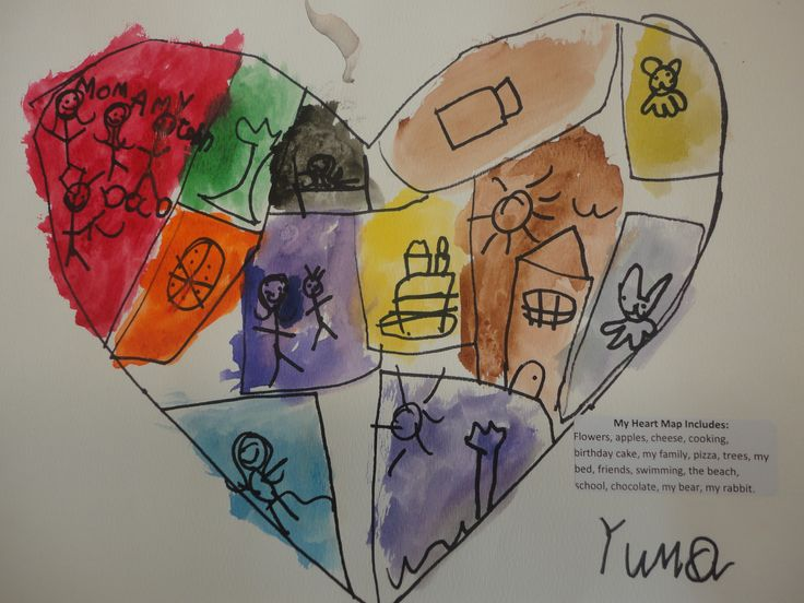 """A Map of My Heart"" Based on Book, My Map Book by Sara Fanelli (from The Curious Kindergarten)"
