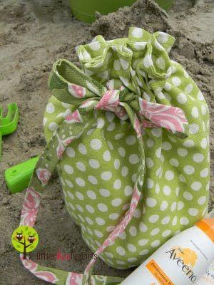 Fat quarter drawstring bag Tutorial: 2-3 Fat quarters depending on size of bag. Great tutorial for round bottom.