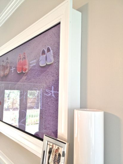 Detailed instructions on how to built a TV wall frame for a flat panel television.  From tommyandellie.com blog spot. This blog has a ton of great detailed DIY ideas that they actually do!