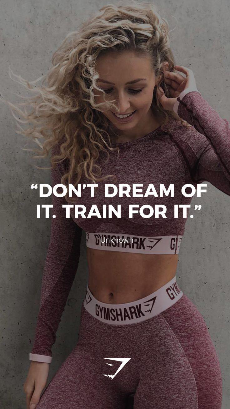 """""""Ne rêve pas. Entraîne-toi."""" – Inconnu. #Gymshark #Quotes #Motivational …,  …"""
