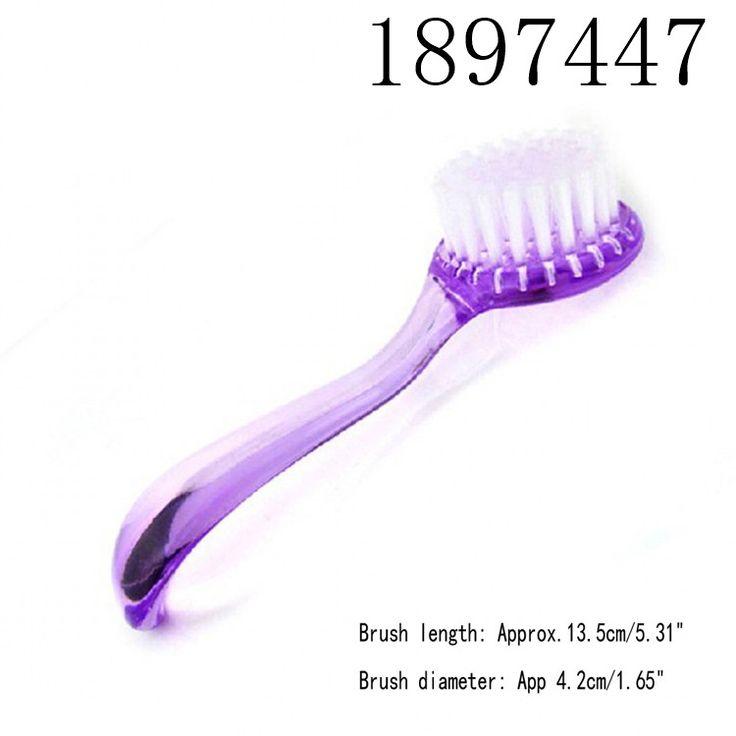 Práticas da arte do prego ferramentas unhas poeira limpa escova Manicure Pedicure ferramenta Make Up Washiong Brush With Cap alishoppbrasil