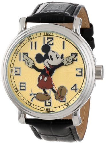 """Disney Men's 56109 """"Vintage"""" Mickey Mouse Watch 
