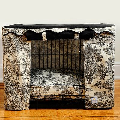 Toile Crate Cover and Pet Bed