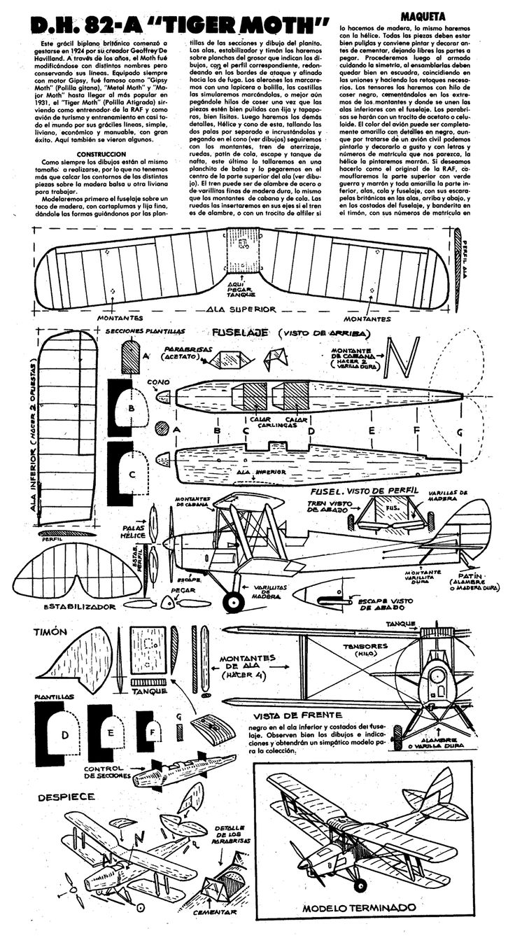 Planitos de Lupin. De Havilland 82 Tiger Moth