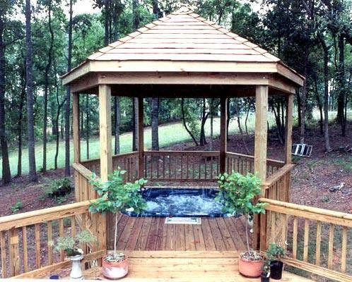 158 best lovely gazebos pavillions pergola arbor trellis for Garden decking with gazebo