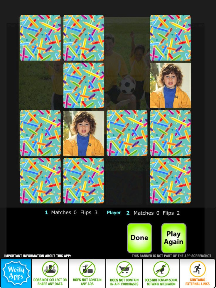 Adults and children can take turns selecting pictures and