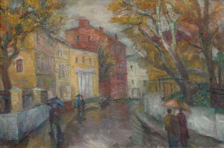 Старосадский переулок. 2005. Х.м. 60х90