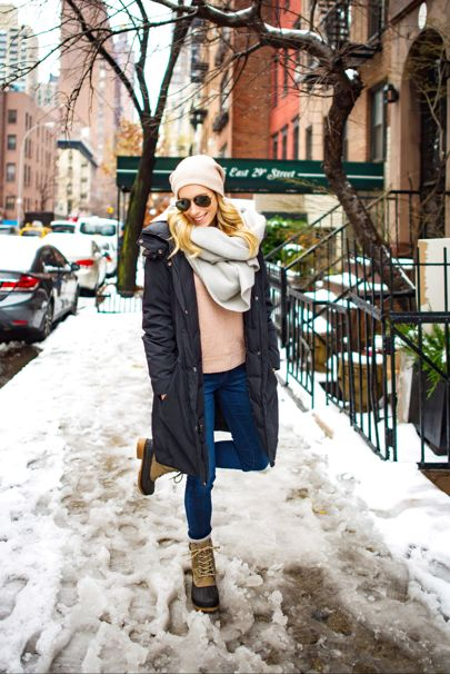 Snow day attire! This down parka served me well last year-- much cheaper than the designer versions, plus it's on sale for less than $150 ☃️ #katiesblissholiday // Head this way for outfit deets http://liketk.it/2pU0C @liketoknow.it #liketkit #ltkholidaystyle #ltkunder100 #snowday #winterfashion #winterstyle