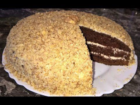 (5) Шоколадный торт на кефире Фантастика. Шоколадный торт на скорую руку. Шоколадный торт с орехами. - YouTube