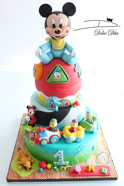 Baby Mickey Mouse Cake made by Dolce Dita