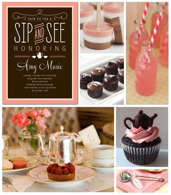 Sip and See Baby Shower Inspiration Board