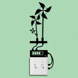 Eco-Friendly windmills for electrical outlets