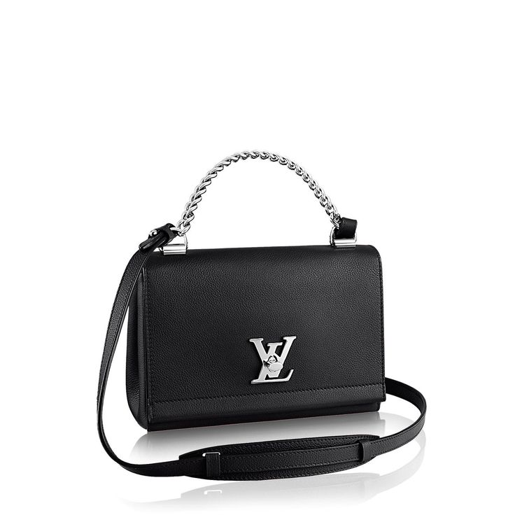 Discover Louis Vuitton Lockme II BB 2015 brings a fresh new reading of the Lockme. Crafted in a natural soft calf leather with a supple hand, the bag's on-trend silhouette lends a youthful cachet to any look – especially when carried cross-body or slung casually over the shoulder. The over-scale LV Twist closure in shiny Palladium brass adds an edgy touch.