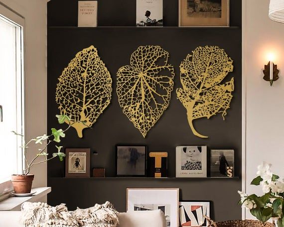 Metal Leaves Large Wall Decor Oversized Wall Art Large Etsy In 2021 Large Metal Wall Art Wall Art Living Room Oversized Wall Art