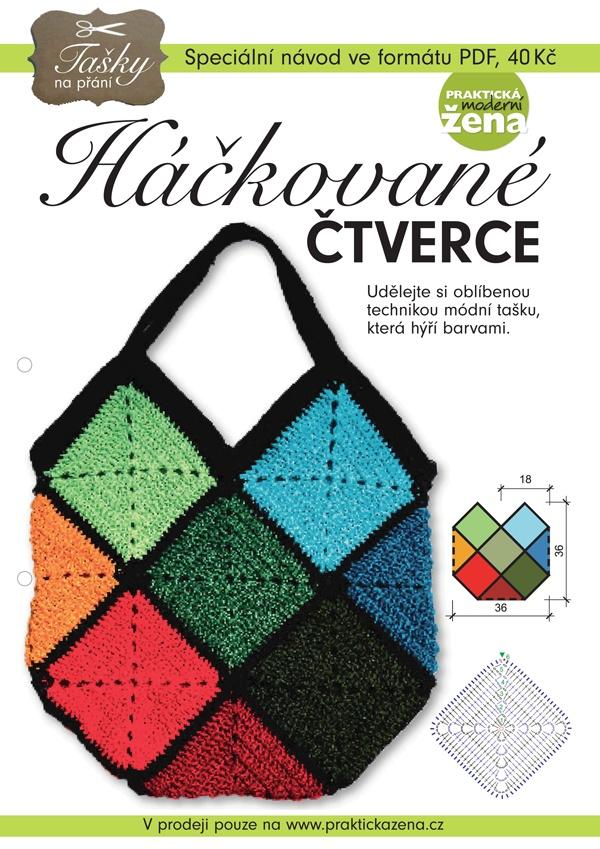 Bag | Taška | Crocheted squares - DIY | Háčkované čtverce