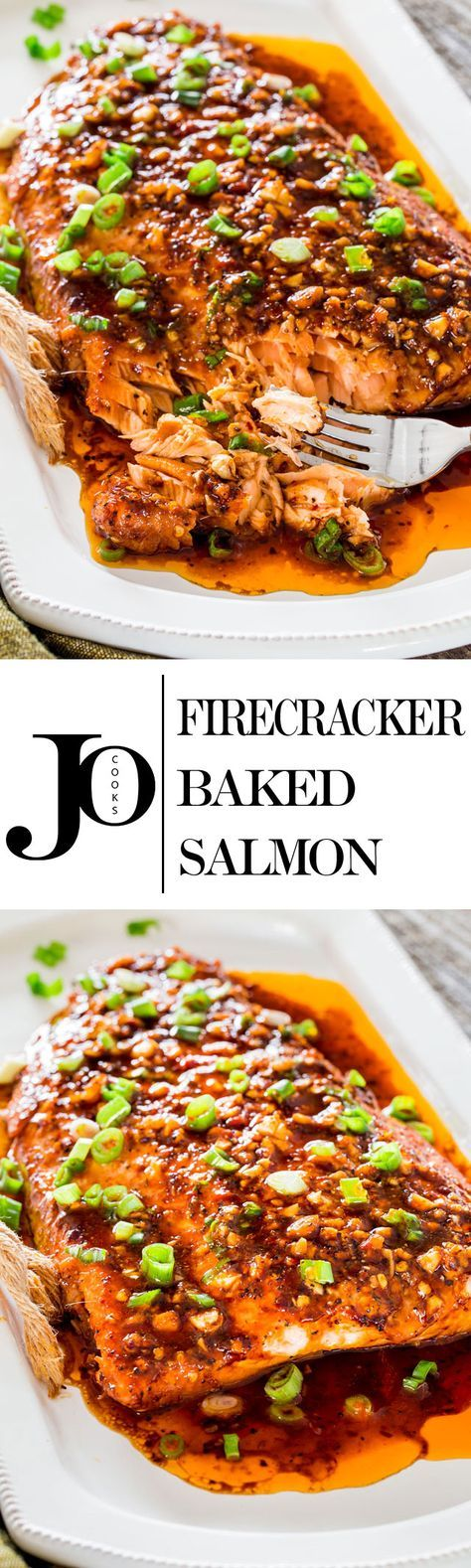 Perk up your dinner tonight with this firecracker baked salmon. Red pepper flakes and Sriracha sauce provide this salmon with some fiery flavor that give this salmon its name. (Bake Shrimp Sauce)