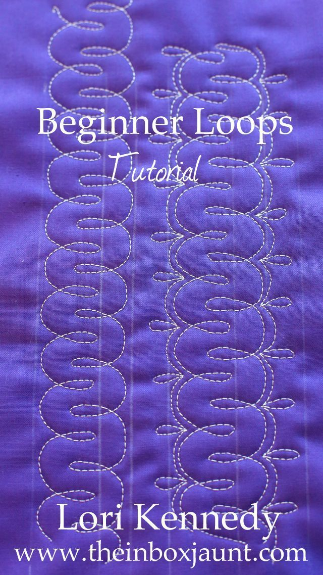 Beginners Loops Free Motion Quilting Quilting Designs