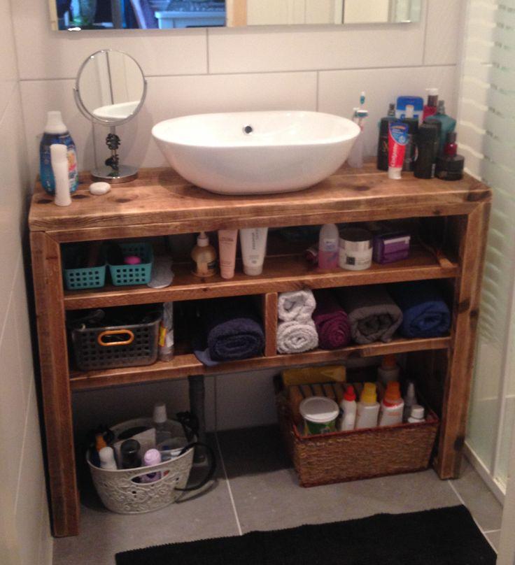 25 beste idee n over badkamermeubel zelf maken op for Zelf maken badkamermeubel