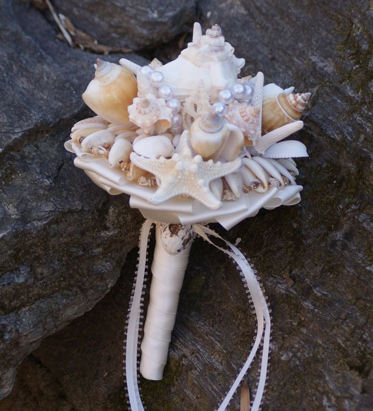 Bridesmaid Seashell Bouquet / Beach Bouquet by SLYCreations, $48.00