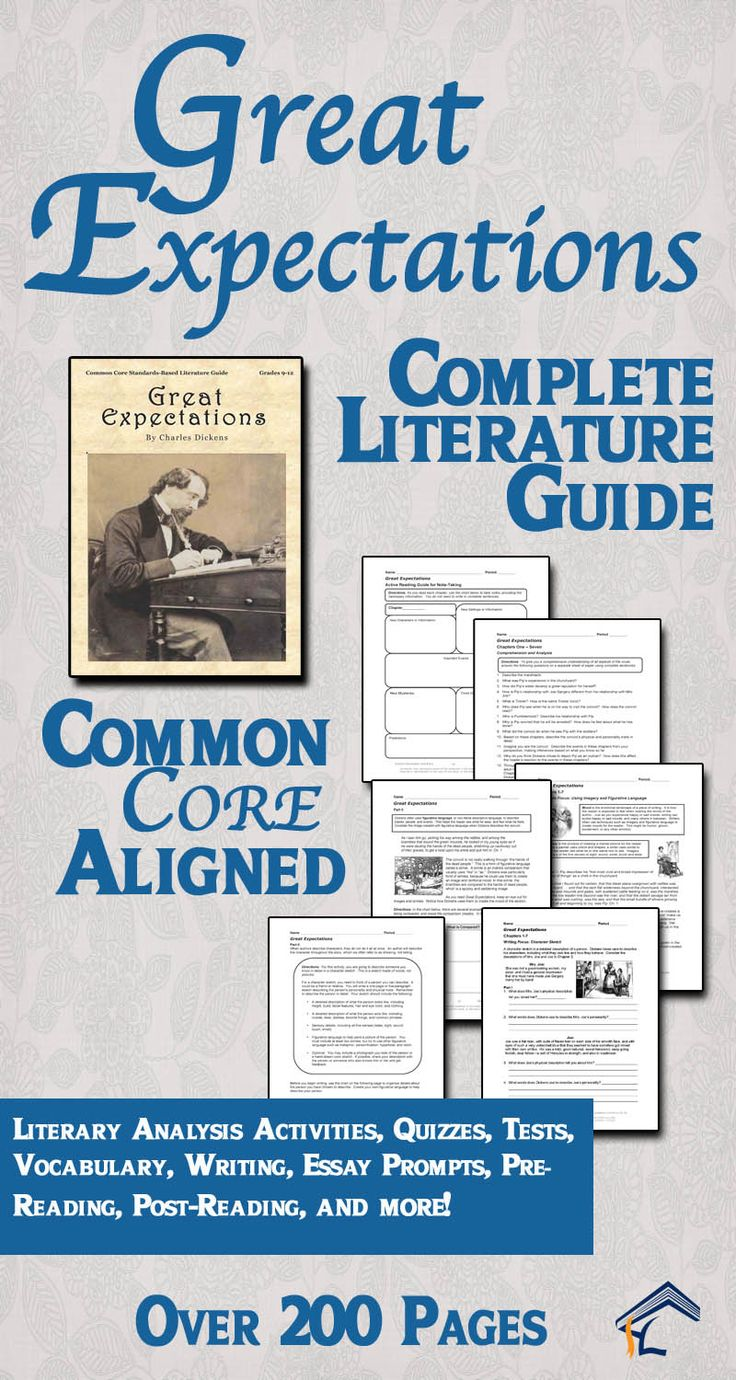 images about charles dickens lesson plans great expectations common core aligned literature guide print