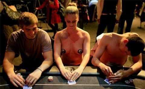 A naked poker tournament
