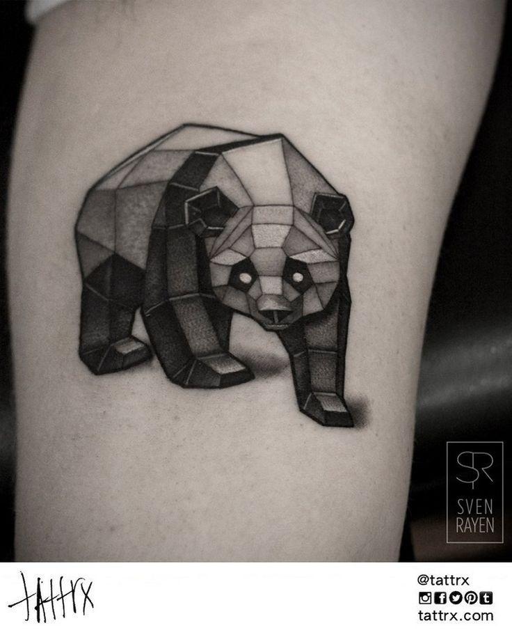 tatouage ours panda g om trique tatouage animaux pinterest belgique et pandas. Black Bedroom Furniture Sets. Home Design Ideas