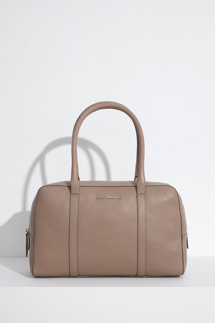 bowling tulip de piel bolsos y carteras adolfo