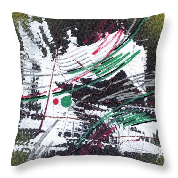 Throw Pillow featuring the painting Nature Abstract - II by Rupam Shah