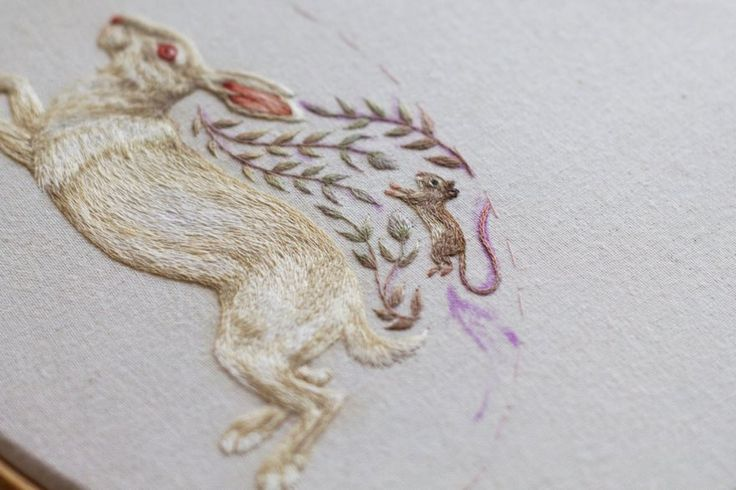New Incredibly Intricate Embroidered Animals By Chloe Giordano
