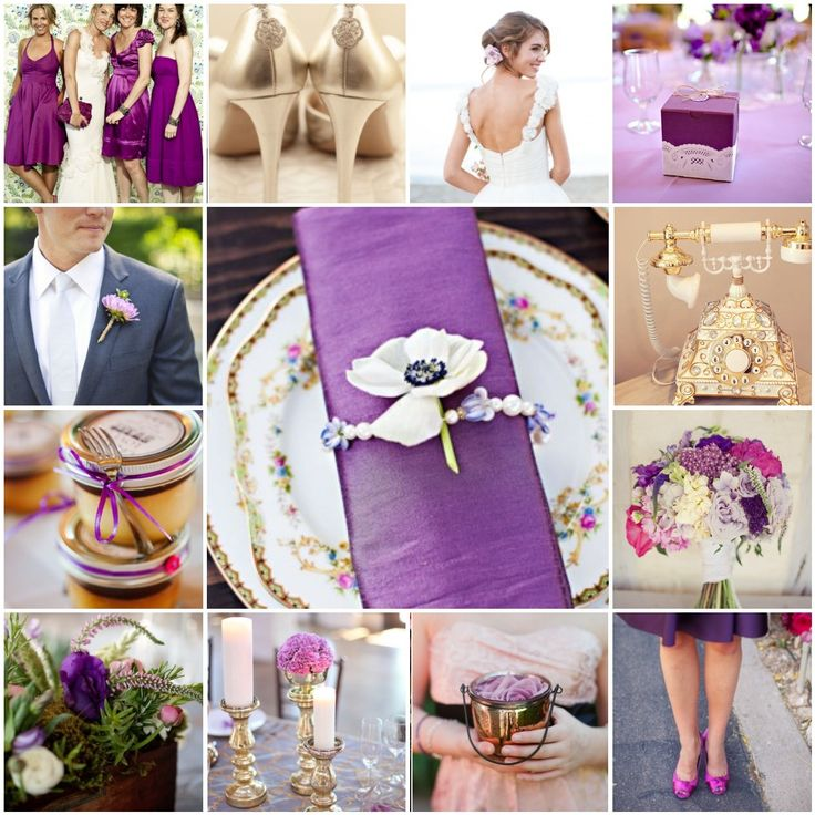 purple pink and gold wedding sweet table |