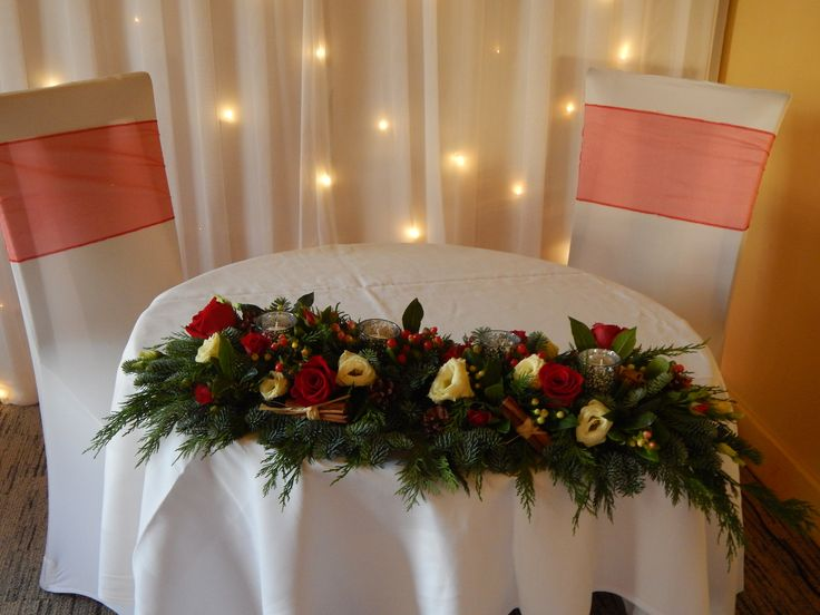 2 of 3 parts of the top table arrangement doubling as the registrars table arrangement-very versatile.