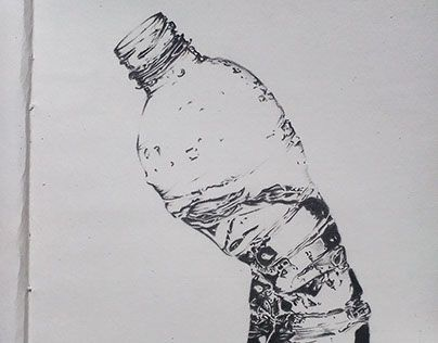"""Check out new work on my @Behance portfolio: """"Pencil sketch of bottle""""…"""
