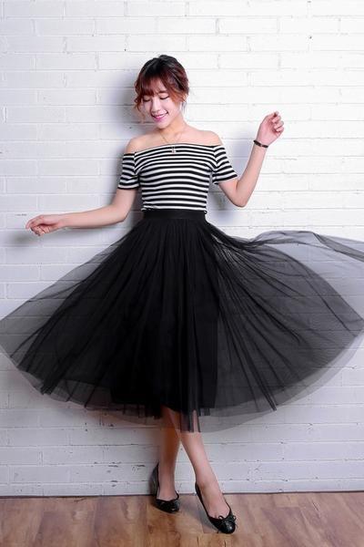 10fd502d8d 2019 Tulle Skirts Womens Fashion Elastic High Waist Mesh Tutu Skirt Pleated  Long Skirts Midi Skirt Saias Faldas Jupe Femme