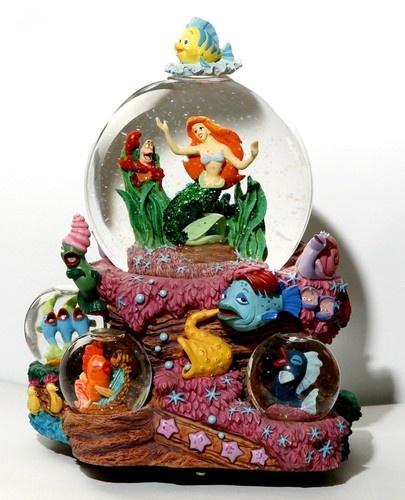 Disney Princess Ariel Little Mermaid Musical Snow Globe   eBay