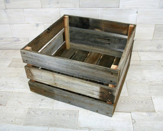 This Barn Wood Crate Has Outside Height Of 12 Length And With
