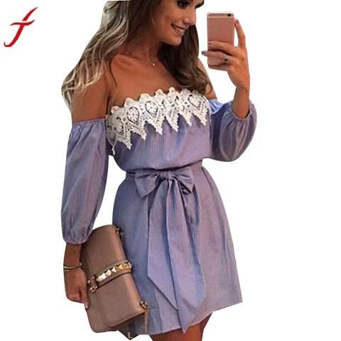 On the town off shoulder dress