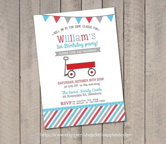 25 Best Ideas about Red Wagon Party – Red Wagon Birthday Invitations