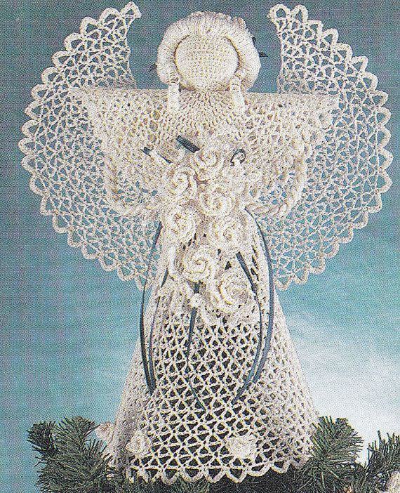 Crochet Angel Baptism Gift Christmas Lace Angel Ornament Tree: 1000+ Ideas About Crochet Angels On Pinterest