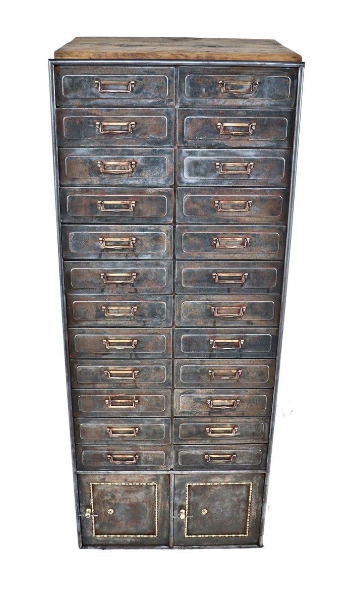 """refinished early 20th century antique american industrial """"fire-proof"""" pressed…"""