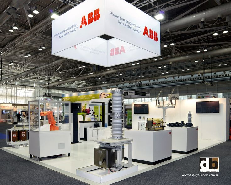 Stands with a HEAP of product on them can look like a junk heap but by placing equipment on similar style & same colour bases will help minimise the clutter like ABB did for Ausrail 2014
